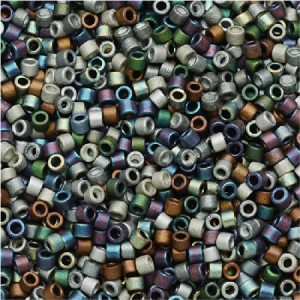Miyuki Delica Seed Beads Mix 11/0 Matte Heavy Metals Mix 7.2 Gram Tube DB-mix24