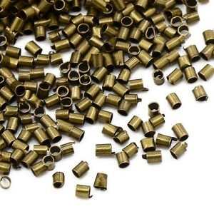 Pack of 1500+ Antique Bronze Plated Brass 1.5mm Tube Crimp Beads – (HA07800) – Charming Beads | Shop jewelry making and beading supplies, tools & findings for DIY jewelry making and crafts. #jewelrymaking #diyjewelry #jewelrycrafts #jewelrysupplies #beading #affiliate #ad