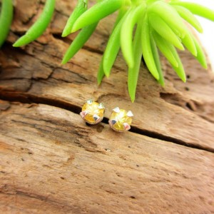 Bright Yellow Sapphire Earrings In Gold, Silver, Or Platinum With Genuine Gems, 3.5mm – Free Gift Wrapping