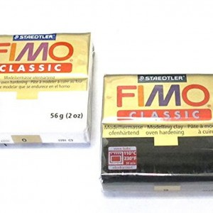 Staedtler Fimo Classic Modelling Clay Black and White