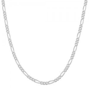 Sterling Silver 1.7mm Figaro Chain (24 inch)