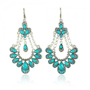 Teal chandelier earrings light images light ideas chandelier earrings in beading and jewelry making beadage mozeypictures Images