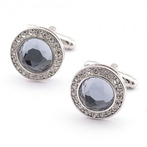 Super Shiny Swarovski Crystal Circular Cufflinks Elegant Style | Shop jewelry making and beading supplies, tools & findings for DIY jewelry making and crafts. #jewelrymaking #diyjewelry #jewelrycrafts #jewelrysupplies #beading #affiliate #ad