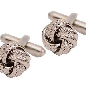 Van Heusen Silver Knot Cufflinks | Shop jewelry making and beading supplies, tools & findings for DIY jewelry making and crafts. #jewelrymaking #diyjewelry #jewelrycrafts #jewelrysupplies #beading #affiliate #ad