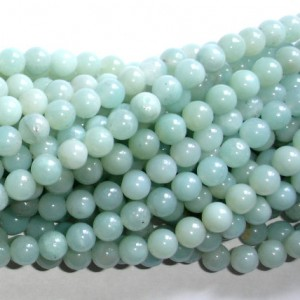 Shop Amazonite Round Beads! Amazonite Beads, Round, 6mm, 15.5 Inch, Full strand, Approx 63 beads, Full strand, Hole 0.8 mm, AB quality (111054002) | Natural genuine round Amazonite beads for beading and jewelry making.  #jewelry #beads #beadedjewelry #diyjewelry #jewelrymaking #beadstore #beading #affiliate #ad