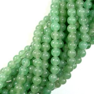 Green Aventurine Beads, Round, 6mm(6.3mm), 15.5 Inch, Full Strand, Approx 64 Beads, Hole 1 Mm, A Quality (249054002) | Natural genuine round Aventurine beads for beading and jewelry making.  #jewelry #beads #beadedjewelry #diyjewelry #jewelrymaking #beadstore #beading #affiliate #ad