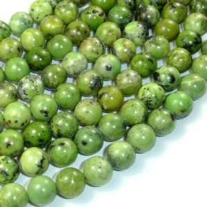 Chrysoprase Beads, 10mm Round Beads, 15.5 Inch, Full Strand, Approx 40 Beads, Hole 1 Mm (190054006)