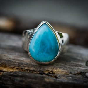 Shop Larimar Rings! Larimar Ring Size 9 Larimar Ring –  Sterling Silver and Larimar ring – Genuine Larimar – AAA Larimar Ring  – Larimar Jewelry | Natural genuine Larimar rings, simple unique handcrafted gemstone rings. #rings #jewelry #shopping #gift #handmade #fashion #style #affiliate #ad