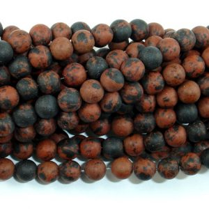 Shop Obsidian Beads! Matte Mahogany Obsidian, 6mm (6.5 mm) Round Beads, 15.5 Inch, Full strand, Approx 62 beads, Hole 1 mm (311054008) | Natural genuine beads Obsidian beads for beading and jewelry making.  #jewelry #beads #beadedjewelry #diyjewelry #jewelrymaking #beadstore #beading #affiliate #ad