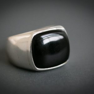 Onyx Ring – Onyx Mens Ring Size 9-12 – Mens Onyx Ring – Unisex Ring – Onyx Jewelry – Sterling Silver Onyx Ring
