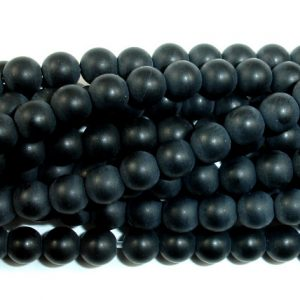 Shop Onyx Round Beads! Matte Black Onyx Beads,  Round, 4mm (4.4mm), 15.5 Inch, Full strand, Approx 95 beads, Hole 0.8 mm, A quality (140054022) | Natural genuine round Onyx beads for beading and jewelry making.  #jewelry #beads #beadedjewelry #diyjewelry #jewelrymaking #beadstore #beading #affiliate #ad