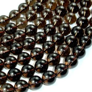 Smoky Quartz, 12mm Round Beads, 15.5 Inch, Full strand, Approx 33 beads, Hole 1.2 mm (408054009)
