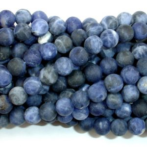 Shop Sodalite Round Beads! Matte Sodalite Beads, 6mm (6.5 mm) Round Beads, 15.5 Inch, Full strand, Approx 62 beads, Hole 1 mm, A quality (411054015) | Natural genuine round Sodalite beads for beading and jewelry making.  #jewelry #beads #beadedjewelry #diyjewelry #jewelrymaking #beadstore #beading #affiliate #ad