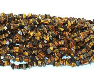 "Shop Tiger Eye Chip & Nugget Beads! Tiger Eye Chip Gemstone Beads – 34"" Strand 