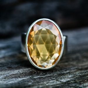 Shop Citrine Rings! Citrine Ring size 6.5 – Citrine Ring – Citrine  Ring 6.5 – november birthstone – Citrine Ring – beautiful citrine sterling silver ring 6.5 | Natural genuine Citrine rings, simple unique handcrafted gemstone rings. #rings #jewelry #shopping #gift #handmade #fashion #style #affiliate #ad