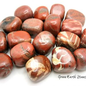 One Brecciated Jasper Tumbled Stone, Large, Premium, Feng Shui, Strength, Grounding Protection, Crystal Healing Stones