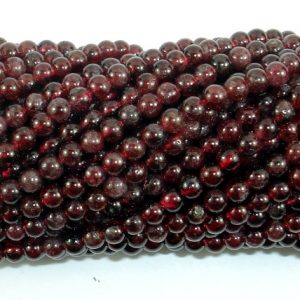 Red Garnet Beads, 3.5mm Round Beads, 15.5 Inch, Full Strand, Approx 110-120 Beads, Hole 0.6mm (370054021)