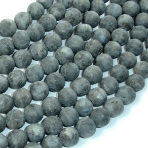 Shop Labradorite Round Beads! Matte Black Labradorite Beads, Larvikite, 8mm (7.8mm) Round Beads, 15 Inch, Full strand, Approx 49-50 beads, Hole 1mm (137054007) | Natural genuine round Labradorite beads for beading and jewelry making.  #jewelry #beads #beadedjewelry #diyjewelry #jewelrymaking #beadstore #beading #affiliate #ad