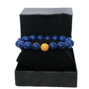 Shop Lapis Lazuli Bracelets! Lapis Lazuli and Gold Vermeil Bali Bead Bracelet, Unisex Bracelet, 10mm Lapis Lazuli Bracelet. Beaded Bracelet, Bead Bracelet Woman, For Her | Natural genuine Lapis Lazuli bracelets. Buy crystal jewelry, handmade handcrafted artisan jewelry for women.  Unique handmade gift ideas. #jewelry #beadedbracelets #beadedjewelry #gift #shopping #handmadejewelry #fashion #style #product #bracelets #affiliate #ad