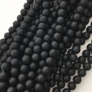 Shop Onyx Beads! Black Onyx, Faceted Beads, Matte Beads, 8mm Beads, Matte Black, Matte Onyx, Frosted Beads, Black Beads, Black Onyx Beads, Gemstone Beads | Natural genuine beads Onyx beads for beading and jewelry making.  #jewelry #beads #beadedjewelry #diyjewelry #jewelrymaking #beadstore #beading #affiliate #ad