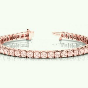 9 Carat Pink Morganite Tennis Bracelet 14k Rose Gold – Morganite Bracelet – Morganite Jewelry – Tennis Bracelets For Women, Black Friday