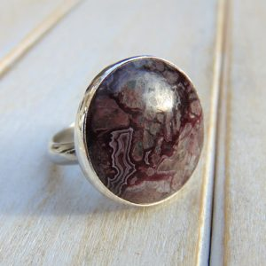 Shop Agate Rings! Crazy Lace Agate Ring, Sterling Silver Jewellery, Statement Ring, US Size 8 1/4 – UK Size Q | Natural genuine Agate rings, simple unique handcrafted gemstone rings. #rings #jewelry #shopping #gift #handmade #fashion #style #affiliate #ad