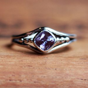 Alexandrite ring, June birthstone alexandrite ring, alexandrite engagement ring, promise ring for her, organic ring, oxidized ring, custom | Natural genuine Alexandrite rings, simple unique alternative gemstone engagement rings. #rings #jewelry #bridal #wedding #jewelryaccessories #engagementrings #weddingideas #affiliate #ad