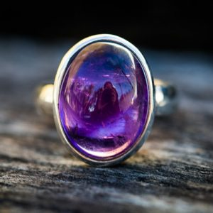 Shop Amethyst Rings! Amethyst Ring size 6-10 – Amethyst Cabochon Sterling Silver Ring Size 6-10 – Amethyst Ring – Purple Amethyst – February Birthstone Ring | Natural genuine Amethyst rings, simple unique handcrafted gemstone rings. #rings #jewelry #shopping #gift #handmade #fashion #style #affiliate #ad