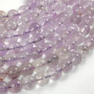 Light Amethyst, Ametrine, 10mm (10.4mm) Round Beads, 15.5 Inch, Full Strand, Approx 39 Beads, Hole 1mm (115054049)
