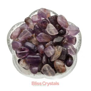 1 Genuine Auralite 23 Drilled Bead Tumbled Stone For Jewelry Bracelet Crafts Amethyst Healing Crystal And Stone #ab01