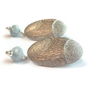 Aquamarine Earrings – March Birthstone Jewellery – Silver Jewelry – Gemstone – Unique – Dangle Er-122