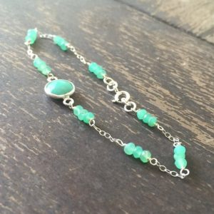 Shop Chrysoprase Bracelets! Chrysoprase Bracelet – Green Gemstone Jewellery – Sterling Silver Chain Jewelry – Luxe | Natural genuine gemstone jewelry in modern, chic, boho, elegant styles. Buy crystal handmade handcrafted artisan art jewelry & accessories. #jewelry #beaded #beadedjewelry #product #gifts #shopping #style #fashion #product