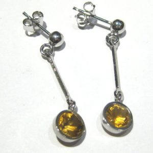 Earrings Citrine