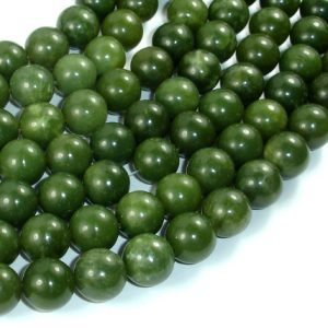 Shop Jade Beads! Canadian Jade Beads, 10mm Round Beads, 15.5 Inch, Full strand, Approx 38 beads, Hole 1mm, A quality (179054005) | Natural genuine beads Jade beads for beading and jewelry making.  #jewelry #beads #beadedjewelry #diyjewelry #jewelrymaking #beadstore #beading #affiliate #ad