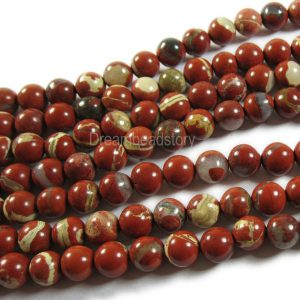 Shop Jasper Beads! Red Jasper Beads 4mm 6mm 8mm 10mm 12mm Natural AAA Red Gemstone Beads Sold by Strand | Natural genuine beads Jasper beads for beading and jewelry making.  #jewelry #beads #beadedjewelry #diyjewelry #jewelrymaking #beadstore #beading #affiliate #ad