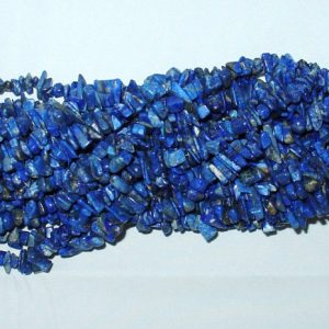"Shop Lapis Lazuli Beads! Lapis Lazuli Chip Gemstone Bead – 34"" Strand 