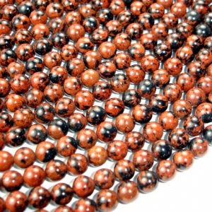 Mahogany Obsidian Beads, Round, 8mm, 15.5 Inch, Full Strand, Approx 47 Beads, Hole 1 Mm, A Quality (311054003)