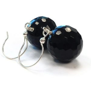 Shop Onyx Earrings! Black Earrings – Onyx Gemstone Jewellery – Sterling Silver Jewelry – Bridesmaid – Wedding – Fashion ER-150 151 | Natural genuine Onyx earrings. Buy handcrafted artisan wedding jewelry.  Unique handmade bridal jewelry gift ideas. #jewelry #beadedearrings #gift #crystaljewelry #shopping #handmadejewelry #wedding #bridal #earrings #affiliate #ad