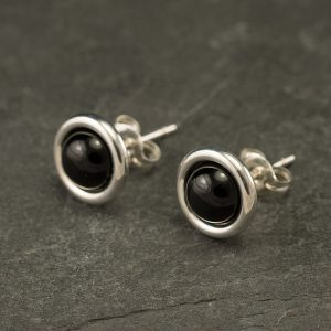 Black Onyx Studs- Black Onyx Earrings- Black Onyx Stud Earrings- Black Stone Earrings- Sterling Silver Studs- Black Stone Post Earrings | Natural genuine Onyx earrings. Buy crystal jewelry, handmade handcrafted artisan jewelry for women.  Unique handmade gift ideas. #jewelry #beadedearrings #beadedjewelry #gift #shopping #handmadejewelry #fashion #style #product #earrings #affiliate #ad