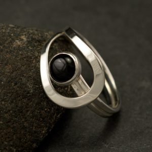 Black Onyx Ring- Black Stone Ring- Sterling Silver Ring- Silver Stone Ring- Handmade Modern Silver Jewelry- Black Onyx | Natural genuine Onyx rings, simple unique handcrafted gemstone rings. #rings #jewelry #shopping #gift #handmade #fashion #style #affiliate #ad
