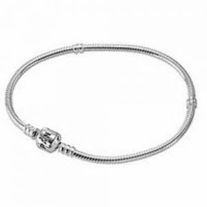 Shop Charm Bracelet Blanks! PANDORA Sterling Silver Bracelet snap clasp 590702HV-23, 9.1 inch | Shop jewelry making and beading supplies, tools & findings for DIY jewelry making and crafts. #jewelrymaking #diyjewelry #jewelrycrafts #jewelrysupplies #beading #affiliate #ad