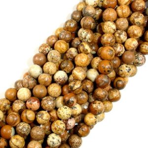 Shop Picture Jasper Round Beads! Picture Jasper Beads Round, 6mm (6.5mm), 15.5 Inch, Full Strand, Approx 62 Beads, Hole 1mm (345054001) | Natural genuine round Picture Jasper beads for beading and jewelry making.  #jewelry #beads #beadedjewelry #diyjewelry #jewelrymaking #beadstore #beading #affiliate #ad