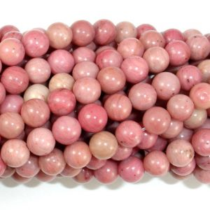 Rhodonite Beads, Round, 6mm (6.7mm), 15.5 Inch, Full strand, Approx 59 beads, Hole 1mm, A quality (386054008) | Natural genuine round Rhodonite beads for beading and jewelry making.  #jewelry #beads #beadedjewelry #diyjewelry #jewelrymaking #beadstore #beading #affiliate #ad