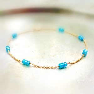 Blue Sapphire Bracelet – Bright – 14k Gold Filled – Everyday Bracelet – Gemstone Jewellery