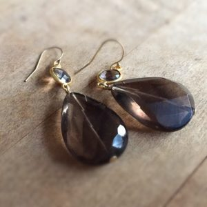 Shop Smoky Quartz Earrings! Brown Earrings – Smoky Quartz Jewelry – Gold Jewellery – Beaded – Fashion – Chic – Gemstone | Natural genuine Smoky Quartz earrings. Buy crystal jewelry, handmade handcrafted artisan jewelry for women.  Unique handmade gift ideas. #jewelry #beadedearrings #beadedjewelry #gift #shopping #handmadejewelry #fashion #style #product #earrings #affiliate #ad