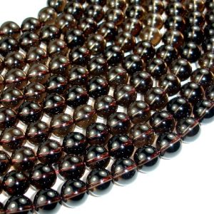 Smoky Quartz Beads, Round, 10mm, 15.5 Inch, Full strand, Approx 41 beads, Hole 1 mm, A quality (408054008)