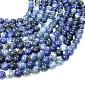 Sodalite Beads, Round, 10mm (10.5 Mm), 15.5 Inch, Full Strand, Approx 38 Beads, Hole 1 Mm, A Quality (411054005)