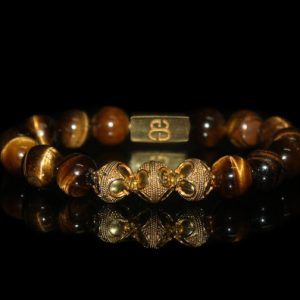 Shop Tiger Eye Jewelry! Men's Bracelet, Bead Bracelets Men, Tigers Eye and Gold Vermeil Beads Bracelets for Men, Bracelet, For Man, Bracelet for Men, Men | Natural genuine Tiger Eye jewelry. Buy handcrafted artisan men's jewelry, gifts for men.  Unique handmade mens fashion accessories. #jewelry #beadedjewelry #beadedjewelry #shopping #gift #handmadejewelry #jewelry #affiliate #ad