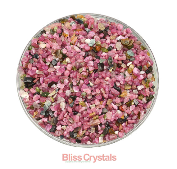 50 Carats Gem Pink & Green Tourmaline Rough Mini Stones (approx 150 Pieces) Healing Crystal And Stone Jewelry Crafting #pt01
