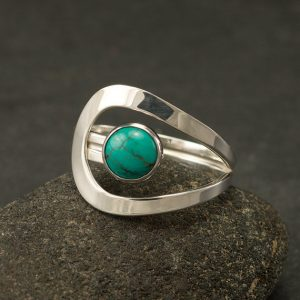 Turquoise Ring- Turquoise Gemstone Ring- Silver Turquoise Ring- Sterling Silver Ring- December Birthstone- Silver Jewelry- Sizes 5-12 | Natural genuine Turquoise rings, simple unique handcrafted gemstone rings. #rings #jewelry #shopping #gift #handmade #fashion #style #affiliate #ad